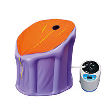 Inflatable portable steam sauna box