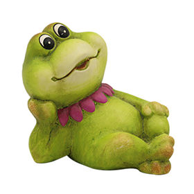 New Naughty Laying Frog garden Statues Manufacturer