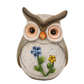 Newest Ceramic standing Owl Statues Manufacturer