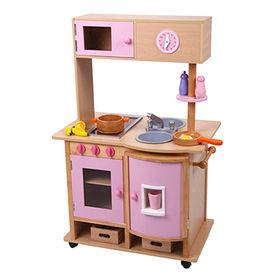 Kids' wooden mini kitchen toy
