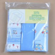 China 3-pack baby receiving blanket