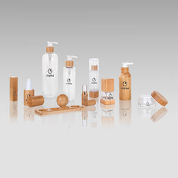 China Bamboo cosmetic packing bottle