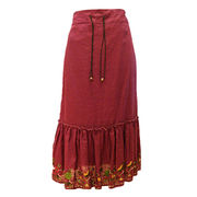100% linen long skirt from China (mainland)