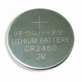 Lithium Button Cell CR2450 from China (mainland)