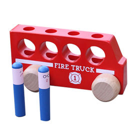 Wooden fire truck toy from China (mainland)