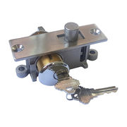 US S.S. Rail Lock, Used with Rail for Frameless Glass Door from Door & Window Hardware Co