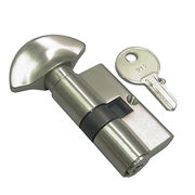 European Brass Cylinder Thumb Turn and Key from Door & Window Hardware Co