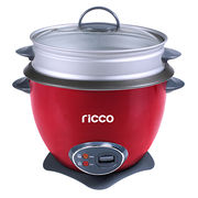 1.8L drum shape rice cooker with aluminum steamer