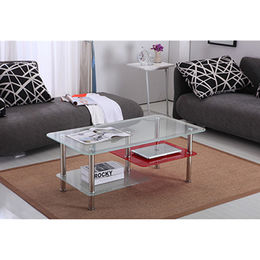 Red glass coffee table from China (mainland)