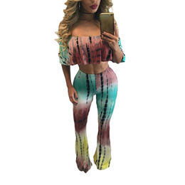 Stylish Tie Dye 2 Piece Pant Set, Made of Polyester + Spandex, Available in Various Sizes