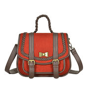 PU Trimmed Retro Satchel Bag from China (mainland)
