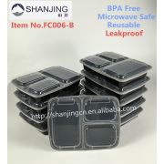 China Factory Meal Prep Containers Best Ing 3 Compartment Plastic Bento Lunch Box With