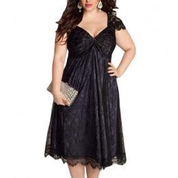 Elegant Lace Embellished Black Plus Size Manufacturer