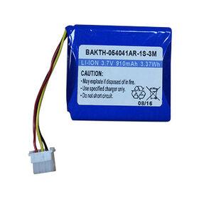 BAKTH-054041AR-1S-3M 3.7V 910mAh Rechargeable Lithium-ion Battery from Shenzhen BAK Technology Co. Ltd