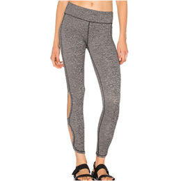 Dusty Grey Cutout Side Sports Leggings from China (mainland)
