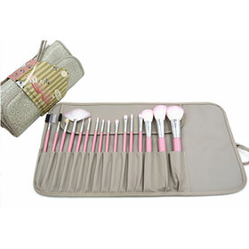 Makeup Brush Set 16pcs with Roll Bag and Guid from Shenzhen Rejolly Cosmetic Tools Co., Ltd.