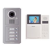 Access control system for multi-apartments building with direct-call buttons