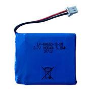 Lithium polymer battery pack 3.7V 1400mAH LP-484550-1S-2M from Shenzhen BAK Technology Co. Ltd