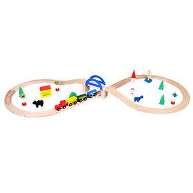 Kids 39 pieces wooden train tracks toy Manufacturer