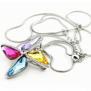China Crystal long necklace pendant sweater sweater chain pendant accessories all sorts of gifts