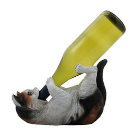 Funny Drinking Calico Kitty Cat Wine Bottle Holder from China (mainland)