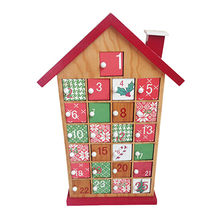 China 2016 Top fashion kid's calendar toy wooden Christmas decorations W02A180