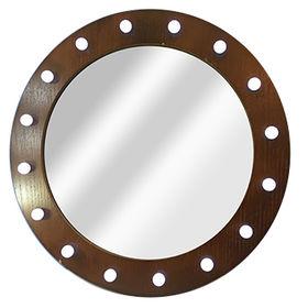 Wood round wall mirror from China (mainland)