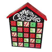 China 2016 Christmas decorations children's wooden advent calendar, W02A185