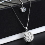 Crystal necklace fashion jewelry upscale Europe an from China (mainland)