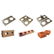 QMR 2-40 manual interlocking block machine, clay hollow bricks machinery in Kenya