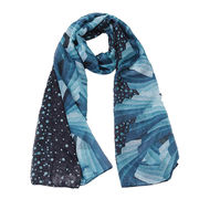 Printed Scarf, Made of 100% polyester from Hangzhou Willing Textile Co. Ltd