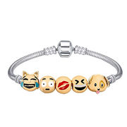 2017 New Fashion Design Cartoon Emoticon Beaded Zinc Alloy Bracelets