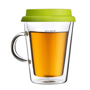 Borosilicate Glass Tea Mug with Silicone Lid, Keeps Your Beverage Air Tight from U&Me Elegance Houseware Manufacturing Co. Ltd