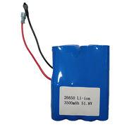 51.8V 3500mAh Lithium ion battery pack from China (mainland)
