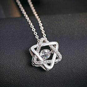 Fashion Design Platinum-plated Women's Sterling Silver Pendants from Wenzhou Success Group Ekstar Co. Ltd