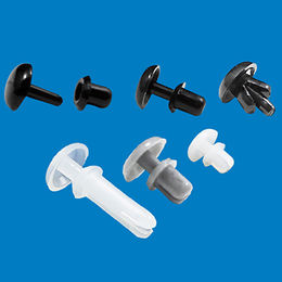 Nylon plastic male and female push pin fastener from Ganzhou Heying Universal Parts Co.,Ltd