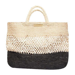 Wholesale ladies' straw beach bags with flower