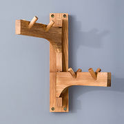 Hot Sale Modern Oak Solid Wood Wall Swing Hanger from China (mainland)