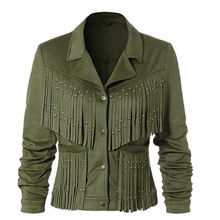 Fabric Ladies' Leather Jacket from China (mainland)