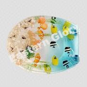 tropical fish toilet seat. China Clear Resin Tropical Fish Toilet Seat with Adjustable Chrome Plated  Brass Hinges