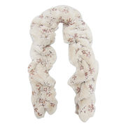 Stylish Faux Fur Scarves with Debossed Flower, Soft and Warmth