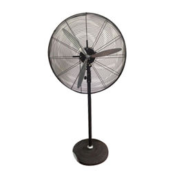 Industrial stand fan with ball bearing motor from Foshan Gemtec Electric Co. Ltd