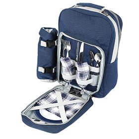 China New Design Outdoor Picnic Backpack with Picnic Mat