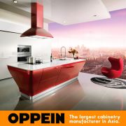 Guangzhou Manufacturer Oppein Smart Red Lacquer Kitchen Cabinet ...