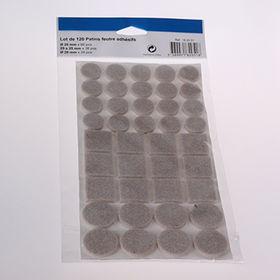 120PCS Felt pad set Felt surface savers Lot de 120 patins feutre adhesifs