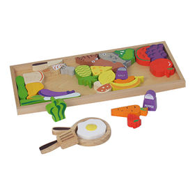Cooking puzzle wooden kid's play food from China (mainland)