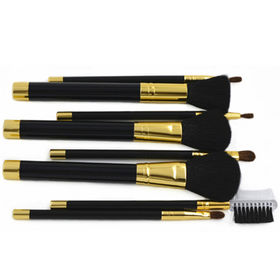 Makeup Brush Set 8pcs with Plastic Handle and Metal Cap from Shenzhen Rejolly Cosmetic Tools Co., Ltd.