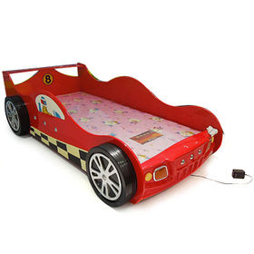 2016 New design wooden toddler race car bed W08A076
