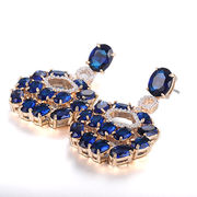 Costume jewelry brass zircon earrings from China (mainland)