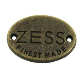 China High quality oval shape metal garment tag